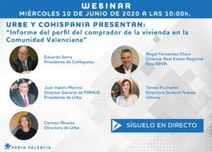 Juan Valero participa en la presentación del informe del perfil del comprador de la vivienda en la Comunitat Valenciana