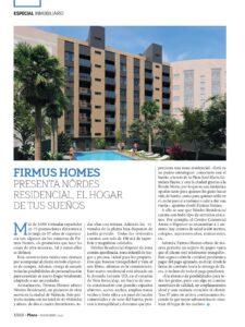 Revista Plaza noviembre: Firmus Homes presenta Nôrdes Residencial, el hogar de tus sueños