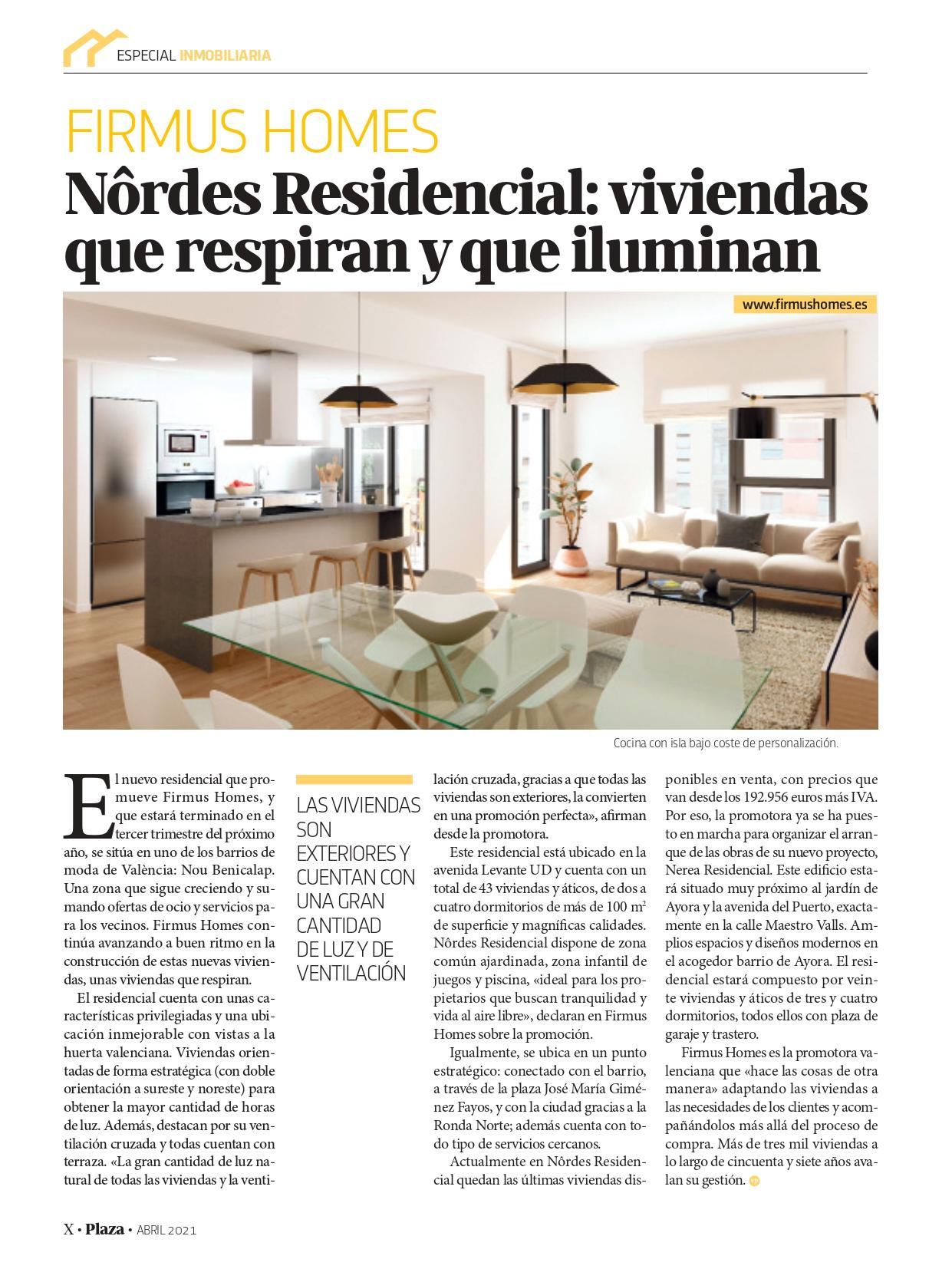Revista Plaza – Nôrdes Residencial: viviendas que respiran